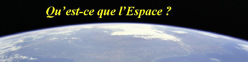 Vitesse de la terre dans l'espace