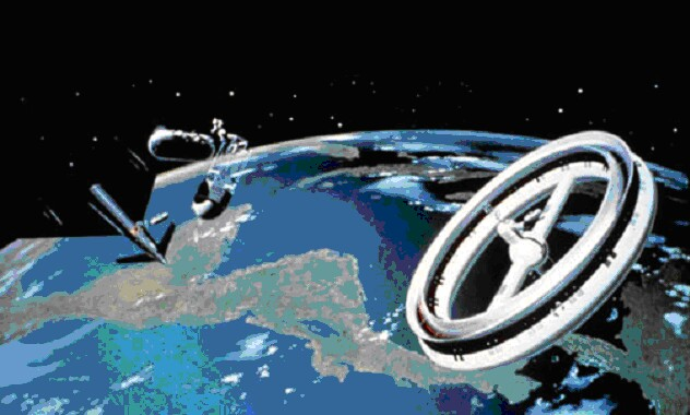 futuristic donut space station - photo #2